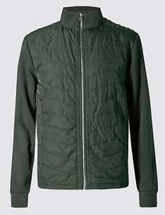 BLUE HARBOUR Cotton Rich Tailored Fit Quilted Jacket £20 @ M&S