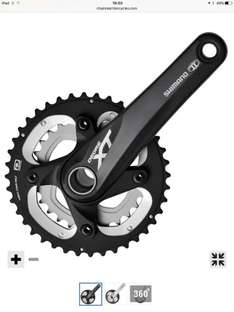 Shimano xt double chainset £71.35 @ chain reaction crc (use JAN17 £10 of £75 clearance sale)