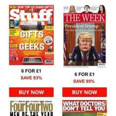 6 issues of Stuff or The Week for £1 plus £4.40 cash back at Magazines.co.uk