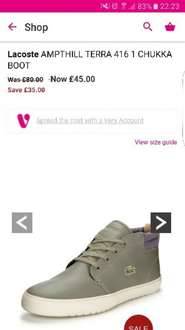 lacoste boots at Very for £45