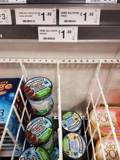 Ben and Jerrys ice cream  £1.49 at Farmfoods!