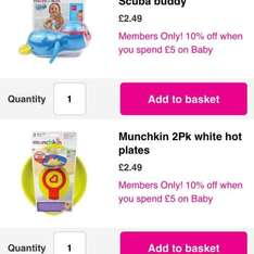 SUPERDRUG-last chance to buy sale. some very good deals on baby products