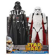 "20"" Darth Vader & Storm Trooper Twin Pack £20.00 @ Tesco Direct"