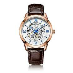Rotary Men's Automatic Watch with Silver Dial Analogue Display and Brown Leather Strap £84.99 @ Amazon
