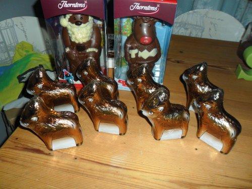 Reindeer 4.for £1.00 bogof so 8 for a £1.00,thorntons,£2.50 bogof - Tesco Hamilton Leicester