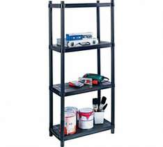 4 Tier Shelving Unit £7.49 @ Argos + 10% quidco cashback (cashback now expired)