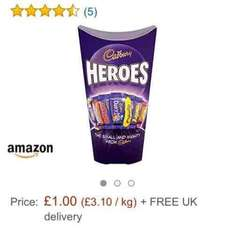 Cadbury's Heroes Carton 323g ONLY £1 on Amazon Prime Now!!