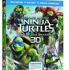 Teenage Mutant Ninja Turtles - Out of the Shadows 3D Blu Ray with 2D version and digital copy £9.90 delivered at Zoom
