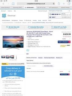 Samsung UE40KU6400 Silver/Black - 40inch 4K Ultra HD TV with UHD at Co-Op Electrical for £399