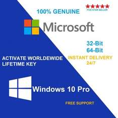 Windows 10 Pro for £6.49 aapmieco (eBay) - activation key only