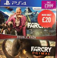 Far Cry 4 and Far Cry Primal double pack PS4 £20 @ Game