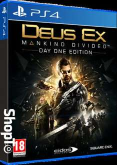 [PS4/Xbox One] Deus Ex: Mankind Divided Day 1 Edition + Deus Ex: Mankind Divided Cloth Poster - £14.86 - Shopto