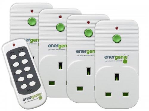 SCREWFIX C&C Energenie 13A 4 Pack Wireless Remote Control Electrical sockets - £19.99