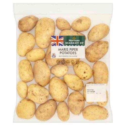Morrisons Maris Piper Potato Bag 2.5kg for 9p @ Morrisons Blackburn