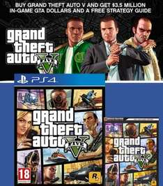 Grand Theft Auto V, Brady Strategy Guide & In-Game GTA V $3.5m Dollars [PS4] - only £19.85 @ ShopTo