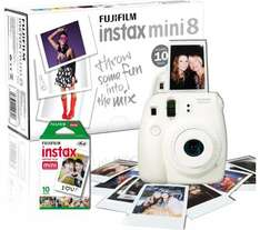 FUJIFILM Instax Mini 8 Instant Camera & 10 Shot Bundle at Currys -