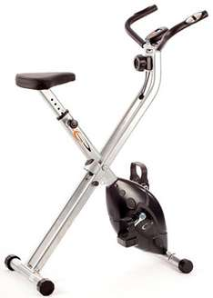 """""""Its time to keep fit"""" with V-fit MXC1 Folding X-frame Magnetic Exercise Bike was £75.99 now £50 @ Tesco Direct"""
