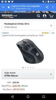 Logitech G700s gaming mouse at Amazon for £40.99