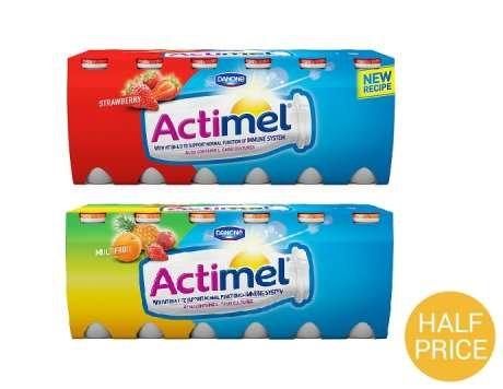 Actimel 12 pack £1 with CheckoutSmart Cashback at Asda