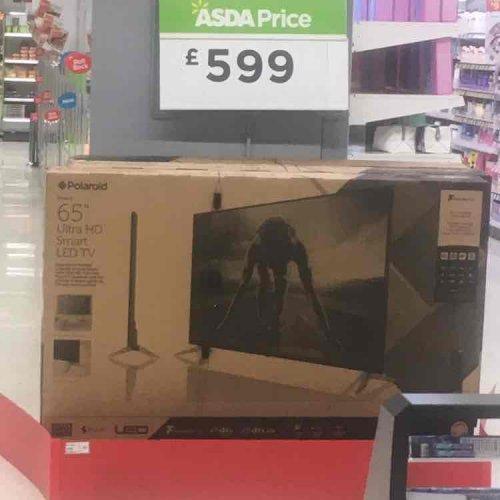 Polaroid 65inch tv ASDA 599 ultra smart hd tv £599 instore @ Asda