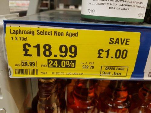Laphroaig Select Malt Whisky £22.79 Makro