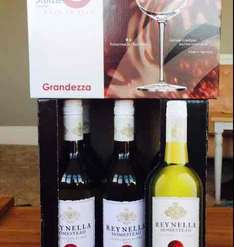 Buy 6 Bottles of Reynella Homestead Sauvignon Blanc and get free 6 Red Wine Glasses (use £5 off voucher) £22 at Iceland