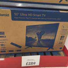 polaroid 50inch led ultra hd smart tv £289 confirmed national @ Asda minworth