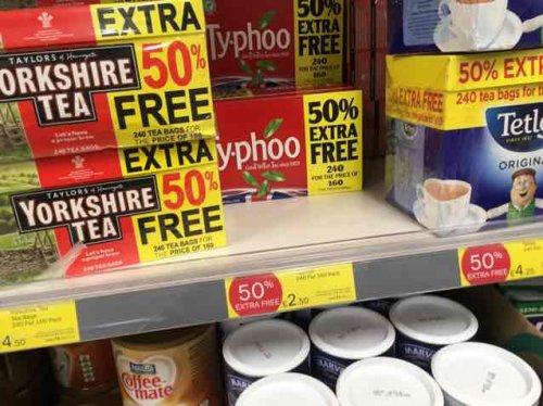50% Free 240 Ty-phoo Teabags 4 £2.50 @ Iceland