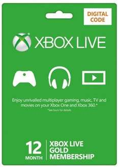 Xbox Live Gold 12 Month (digital Key) £38.99 @ Base