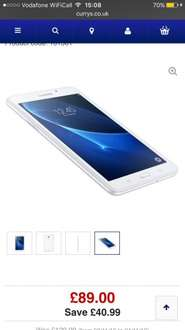 Samsung tab a 8gb £89.00!!!!! From Currys