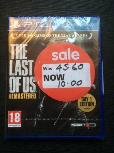 Last of Us Remastered Day 1 Edition PS4 - £10 Asda Halesowen
