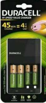 Duracell 45 minute battery charger with 2AA & 2AAA £10 Sainsburys in-store
