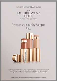 Free 10 day sample of Estée Lauder Nude foundation makeup