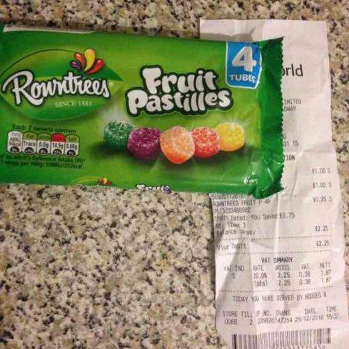 Rowntrees Fruit Pastilles x4 @ poundland - 25p