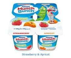 Kids munch bunch 30% less sugar, pack of 6 for 39p @ Heron