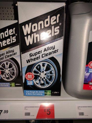 Wonder wheels alloy wheel cleaner 1 litre £5 @ Halfords Instore (found Braintree)