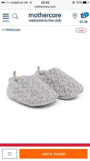 Star booties mothercare unisex - £1. (Free C&C on orders over £30, or £1.50 delivery)