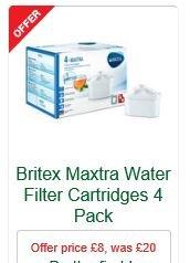 Britex Maxtra Water Filter Cartridges 4 Pack £8 - MORRISONS