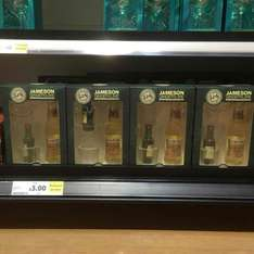 Jameson 5cl with branded glass and 200ml fevertree ginger ale bottle £3 @ Tesco instore