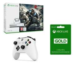 Xbox One S 1tb Gears 4 Extra Controller 3 months live - £279.98 @ Curry's (Free C&C) £249.20 after cashback