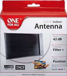 One For All SV9335 Amplified Indoor Digital Analogue DAB Radio TV Aerial - Black £13.99 @ Argos Ebay Outlet