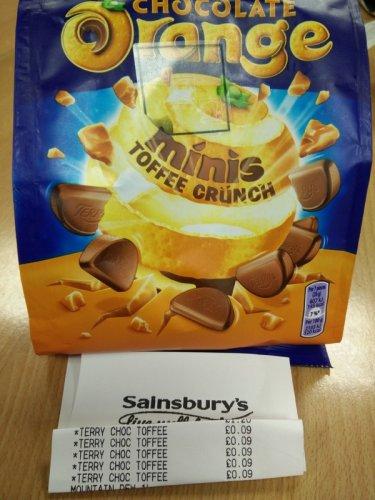 Terry's Chocolate Orange Minis Toffee Crunch @ Sainsburys