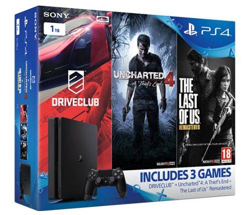 Sony 1TB Slim + 3 Game bundle £249.99 @ Tesco Direct or Amazon