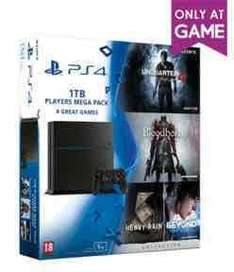 PS4 1TB + Uncharted 4 + Bloodborne + Heavy Rain + Beyond Two Souls - £229.99 @ GAME