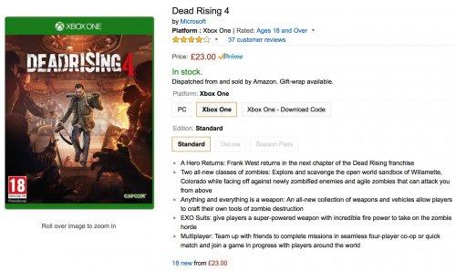 Dead Rising 4 - £23 Amazon