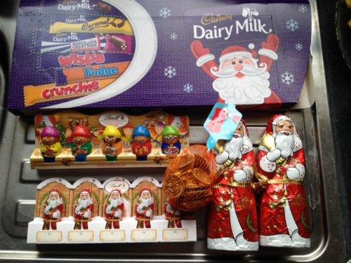 Cadbury's selection boxes 18p, 36p ..lindt choc santa 18p , coins 7p + more instore @ Sainsbury's