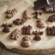 2 PIECE SILICONE CHRISTMAS CHOC MOULD @ LAKELAND. Was £4.99, then £1.99, now 99p. Free C&C