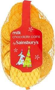 Milk Chocolate Coins   7p  from Whitley Bay Sainsbury's