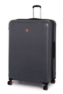 "IT Luggage Extra Large 82cm/30.2"" 8 Wheel (Pewter) + 10 years warranty was £99.99 now £49.99 delivered with code @ bagsetc"
