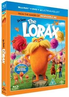Dr Seuss' The Lorax - 2 Disc (Blu Ray) + DVD + Ultraviolet £2.29 @ musicMagpie